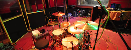 Drums in the recording studio